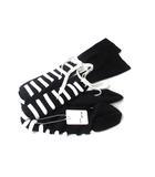 メゾンマルジェラ Maison Margiela ハイ ソックス 靴下 M 黒 ブラック 白 ホワイト レースアップ S15755 ◎
