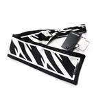 ディースクエアード DSQUARED2 スカーフ ブラック 黒 ホワイト 白 シルク 総柄 17ST5002 1152 M072 ◎