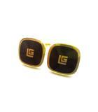 ギラロッシュ Guy Laroche カフス ボタン スクエア ロゴ ゴールド 金色