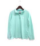 キャロウェイ CALLAWAY ゴルフ GOLF ポロシャツ L 緑 グリーン 白 ホワイト レーヨン混 長袖 ハーフジップ ボーダー