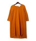 グレースクラス GRACE Class グレースコンチネンタル GRACE CONTINENTAL ワンピース 38 M オレンジ Vネック シフォン ドレス