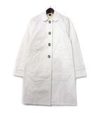 コーチ COACH ステンカラー コート 2 白 ホワイト コットン ロング 裏地 ロゴ 総柄