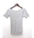 マイケルコース MICHAEL KORS Tシャツ カットソー 4 S 灰 グレー コットン 半袖 無地 シンプル