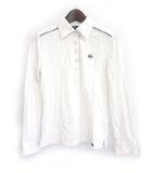 フィドラ FIDRA ゴルフ GOLF ポロシャツ 白 ホワイト コットン 長袖 無地 シンプル ワンポイント ライン