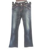 エドウィン EDWIN デニム パンツ ジーンズ 26×32 インディゴ コットン USED加工 ストレッチ ブーツカット