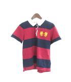 マクレガー MCGREGOR ポロ シャツ M 紺 ネイビー 赤 レッド コットン 半袖 ボーダー 刺繍