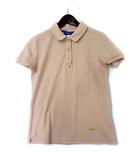ブルーレーベルクレストブリッジ BLUE LABEL CRESTBRIDGE ポロシャツ 36 S ピンク ベージュ コットン 半袖 鹿の子