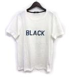 バーバリーブラックレーベル BURBERRY BLACK LABEL Tシャツ カットソー 2 M 白 ホワイト コットン 半袖 ロゴ プリント