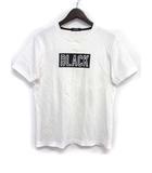 バーバリーブラックレーベル BURBERRY BLACK LABEL Tシャツ カットソー 2 M 白 ホワイト コットン 半袖 ボックス ロゴ プリント