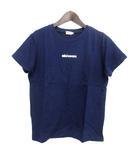 ミキハウス mikihouse ORIGINAL キッズ Tシャツ カットソー S 紺 ネイビー コットン 子供服 ロゴ プリント