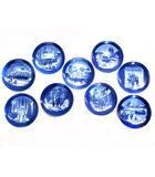 ロイヤルコペンハーゲン ROYAL COPENHAGEN イヤープレート クリスマスプレート 皿 食器 9点セット 1991-2000 絵皿 飾り皿 陶磁器 18cm