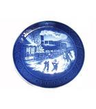 ロイヤルコペンハーゲン ROYAL COPENHAGEN 1993 レア イヤープレート 皿 クリスマスのお客様 皇太子様御成婚記念 洋食器 絵皿 飾り皿 18cm