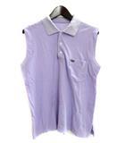モガ MOGA ポロシャツ M 紫 パープル コットン ノースリーブ 無地