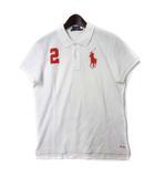 ラルフローレン RALPH LAUREN ポロシャツ 5f 白 ホワイト コットン 半袖 鹿の子 ビッグ ポニー