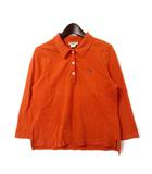 ポロジーンズ ラルフローレン POLO JEANS ポロシャツ L オレンジ コットン 七分袖 鹿の子 ワンポイント ロゴ