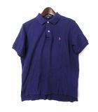 ポロスポーツ POLO SPORT ラルフローレン RALPH LAUREN ポロシャツ M 紫 パープル コットン 半袖 鹿の子 ポニー 刺繍