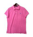 ラルフローレン RALPH LAUREN ポロシャツ 5f ピンク コットン 半袖 鹿の子 ポニー 刺繍