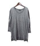 ユニクロ UNIQLO アンダーカバー UNDERCOVER Tシャツ L 灰 グレー コットン 五分袖 切替 刺繍