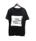 ユニクロ UNIQLO アンダーカバー UNDERCOVER Tシャツ M 黒 ブラック コットン 半袖 プリント 英字