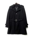 バーバリーブラックレーベル BURBERRY BLACK LABEL トレンチ コート L 黒 ブラック 中綿 ライナー ベルト付き シングル BMA14-313-09
