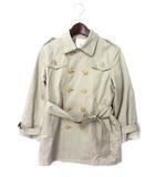 ビューティフルピープル beautiful people トレンチ コート 130 ベージュ コットン 無地 シンプル ベルト 子供服