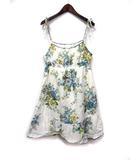 オリーブデオリーブ OLIVE des OLIVE キャミソール ワンピース 白 ホワイト コットン ひざ丈 花柄 フレア レース