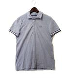 アルマーニエクスチェンジ A/X ARMANI EXCHANGE ポロシャツ S グレー ネイビー コットン 半袖 ロゴ 刺繍