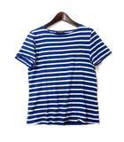 セントジェームス SAINT JAMES Tシャツ USA 4 ブルー ホワイト コットン 半袖 ボーダー カットソー