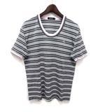 バーバリーブラックレーベル BURBERRY BLACK LABEL Tシャツ カットソー 3 灰 グレー コットン 半袖 ボーダー柄 BMV16-845-06