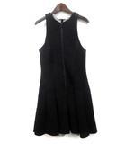 ティーバイアレキサンダーワン T by Alexanderwang ワンピース S 黒 ブラック レーヨン ノースリーブ ドレス 401410P15