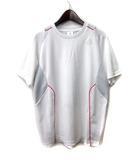 アディダス adidas Tシャツ M 白 ホワイト ポリエステル 半袖 ロゴ プリント climacool スポーツウェア