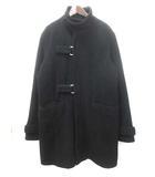 ピーピーエフエム PPFM スタンドカラー コート F 黒 ブラック ウール ロング 無地 シンプル