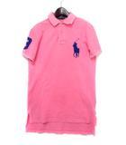 ポロ バイ ラルフローレン Polo by Ralph Lauren ポロシャツ XS ピンク コットン 半袖 鹿の子 ビッグ ポニー
