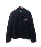 ラルフローレン RALPH LAUREN テーラード ジャケット 3f 紺 ネイビー コットン ポニー 刺繍 大きいサイズ