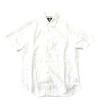 ティンバーランド Timberland シャツ 半袖 リネン 麻 100% 胸ポケット ロゴ刺繍 ワンポイント インド製 S/P 白 0530