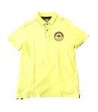 ティンバーランド Timberland ポロシャツ 半袖 プリント 袖ロゴ刺繍 コットン 綿100% インド製 M/M 黄 イエロー 0530