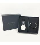 ダニエルウェリントン DANIEL WELLINGTON 腕時計 リストウォッチ バングル ブレスレット セット Classic B40S1 ClassicPetite Sterling 黒 白 0513