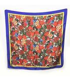 マルニ MARNI スカーフ シルク 花柄 バラ 赤系 MKS 0407