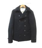 エディフィス EDIFICE Pコート ピーコート ショート ウール アンゴラ 黒 ブラック 38 Mサイズ相当 X