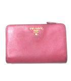 プラダ PRADA 財布 二つ折り 小銭入れあり ピンク X