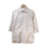 モルガンオム MORGAN HOMME シャツ 7分袖 七分袖 小花柄 マルチカラー ストレッチ M コットン X
