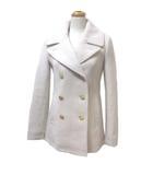 ジェイクルー J.CREW STADIUM CLOTH NELLO GORI コート ピーコート Pコート ウール 00 XS 小さいサイズ アイボリー ベージュ X