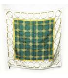 セリーヌ CELINE スカーフ シルク100% 白 ホワイト 緑 グリーン 0709