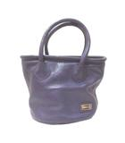 ジリ GIGLI ハンドバッグ 紫 パープル 皮革 IBS92 X