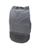 ブルガリ BVLGARI PARFUMS POUR HOMME プールバッグ ショルダーバッグ 巾着式 ロゴ 黒 灰 ブラック グレー系 ☆AA★ X