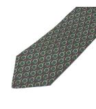 ランバン LANVIN ネクタイ レギュラータイ シルク 総柄 緑 グリーン X