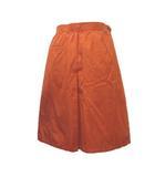 クリスチャンディオール Christian Dior SPORTS ヴィンテージ スカート ひざ丈 フレア ラップ巻き風 オレンジ M コットン 裾ワンポイント ECR3 X