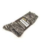 ヘルスニット healthknit クルーソックス ニット 総柄 黒 グレー 白 25~27 靴下