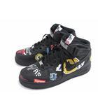 ナイキ NIKE ×SUPREME シュプリーム AIR FORCE 1 MID NBA エアフォース1 ミッド スニーカー 28 ブラック マルチカラー 靴 シューズ ☆AA★