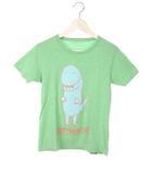CHATMONCHY Tシャツ カットソー XS グリーン系 プリント バンド 半袖 トップス